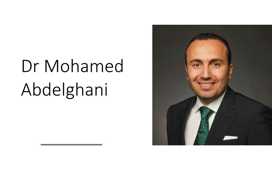 Dr Mohamed Abdelghani, President-elect of the Clinical TMS Society